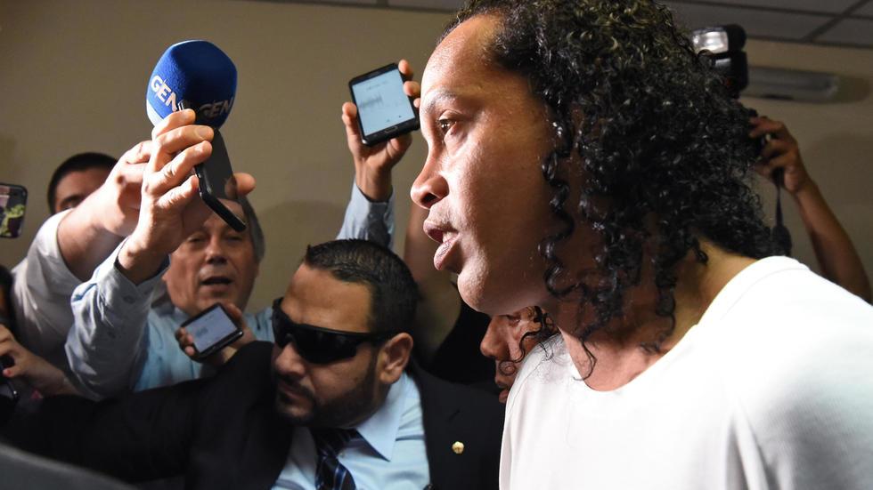 Ronaldinho est sorti de prison et placé en résidence surveillée./ Afp
