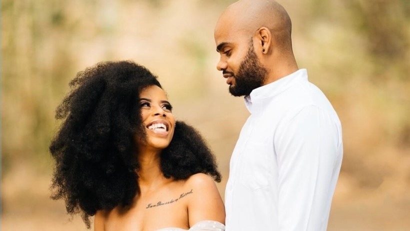 Siann Charles and Arrielle Bowen live-streamed their wedding to friends and family. Photo: Donovan Jordan of Shutter in Motion