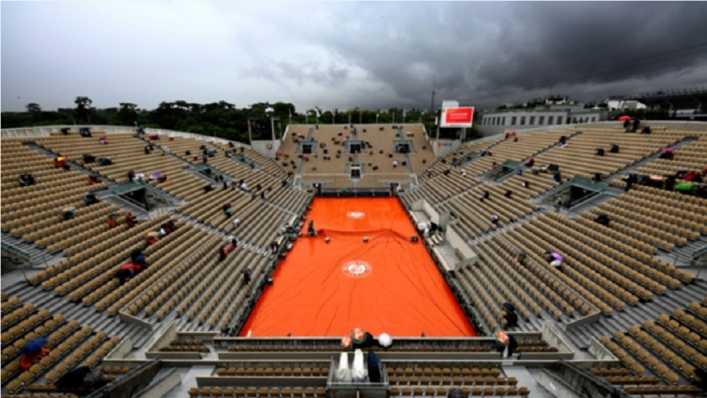 A view of the Stade Roland-Garros in Paris, the venue for the French Open.