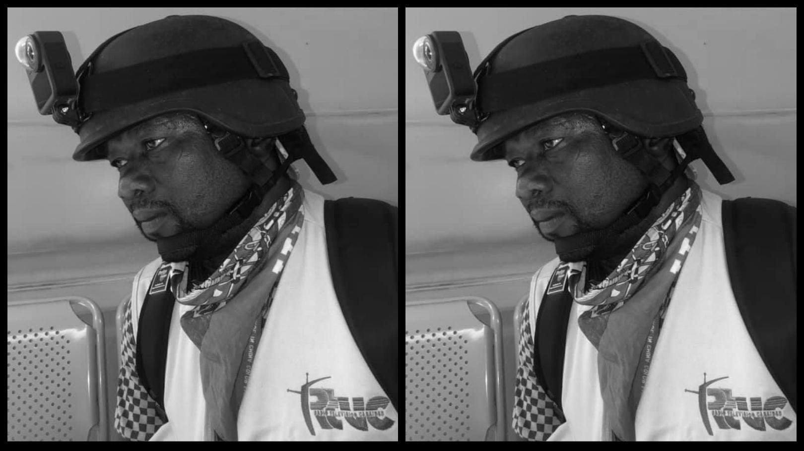 Le cameraman Dieunord Joseph, décédé tragiquement suite a l'explosion d'un camion de petrole sur la route 9. Photo : Page Facebook RTVC.