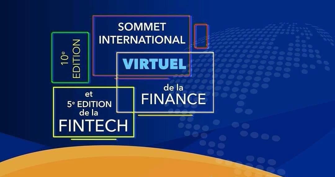 Affiche de promotion de la 5e Edition de la FinTech et de la 10e Edition du Sommet International de la Finance.