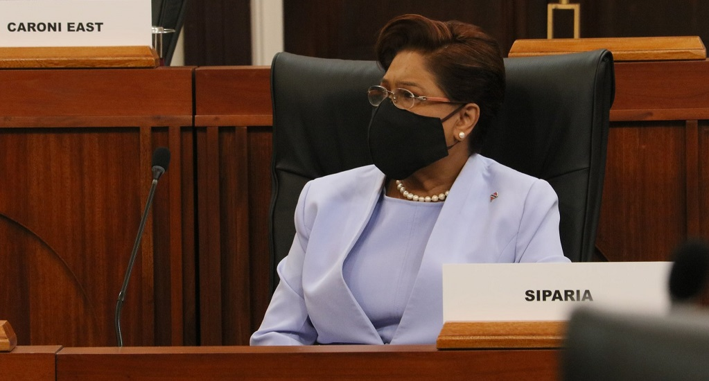 Photo via Facebook, the Office of the Parliament of Trinidad and Tobago.