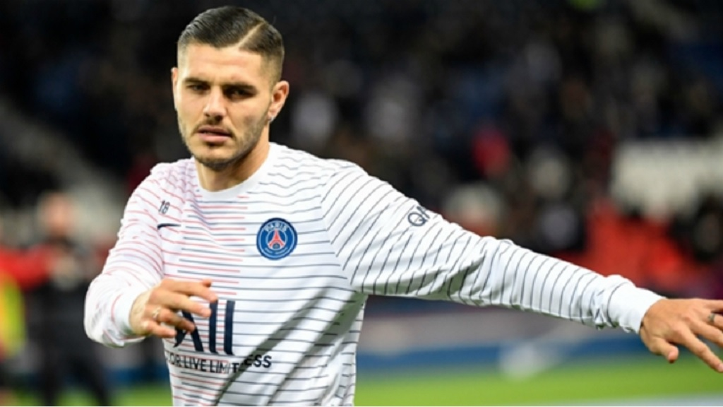 Mauro Icardi is on loan at PSG from Inter.