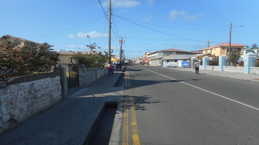 Vieux Fort town during the lockdown