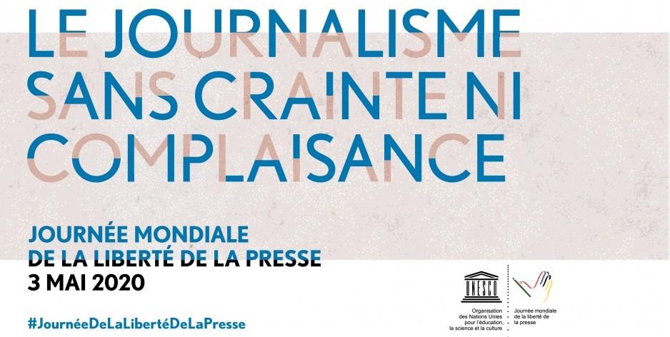 Le thème retenu cette année pour la journée internationale de la liberté de la presse. Crédit image : Site internet UNESCO