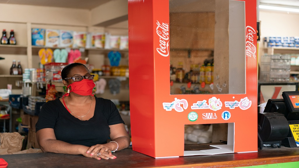 Coca Cola and Piton Beer, prominent brands of Windward and Leeward Brewery Limited and Du Boulay's Bottling Company Limited, have been working with community marts through an initiative called MY SAFE SHOP, to support them in reopening safely during the COVID-19 pandemic.
