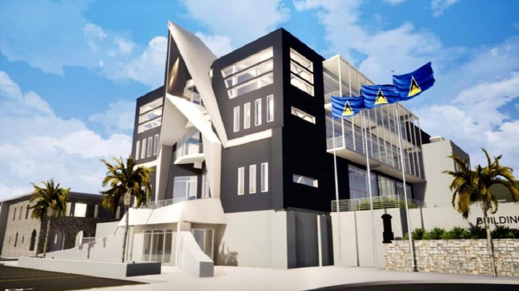 Artist impression of the new Police Headquarters and Halls of Justice to be constructed in St Lucia.