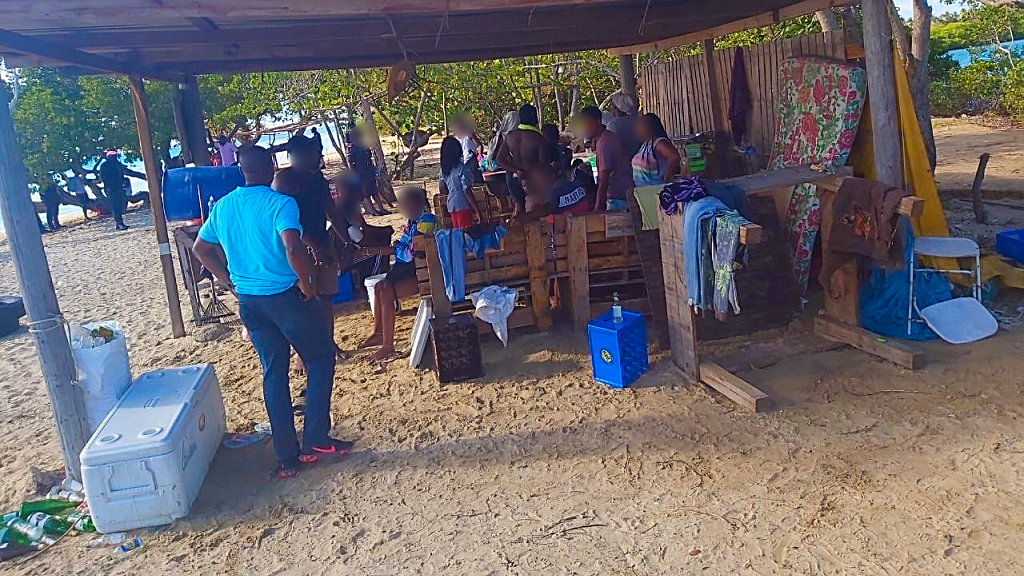 20 arrested for liming, cooking, bathing in No Man's Land, Tobago