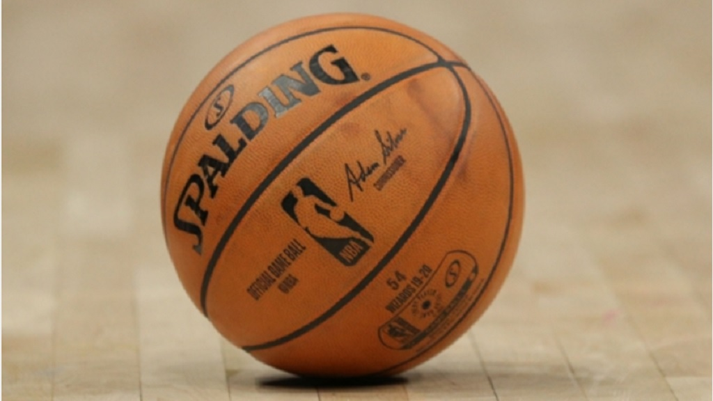 An NBA basketball.