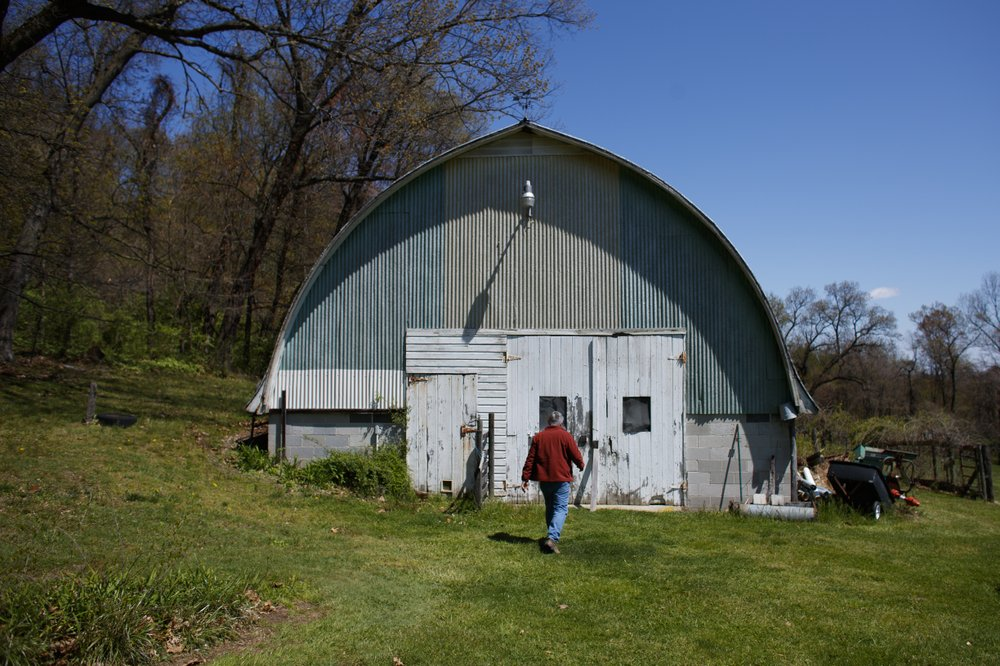 The barn at his 10-and-a-half acre farm in Hellam, Pennsylania where Fred Haag, associate professor of visual arts at Penn State York, normally teaches his Art 50: Introduction to Painting lessons. (AP Photo/Matt Slocum)