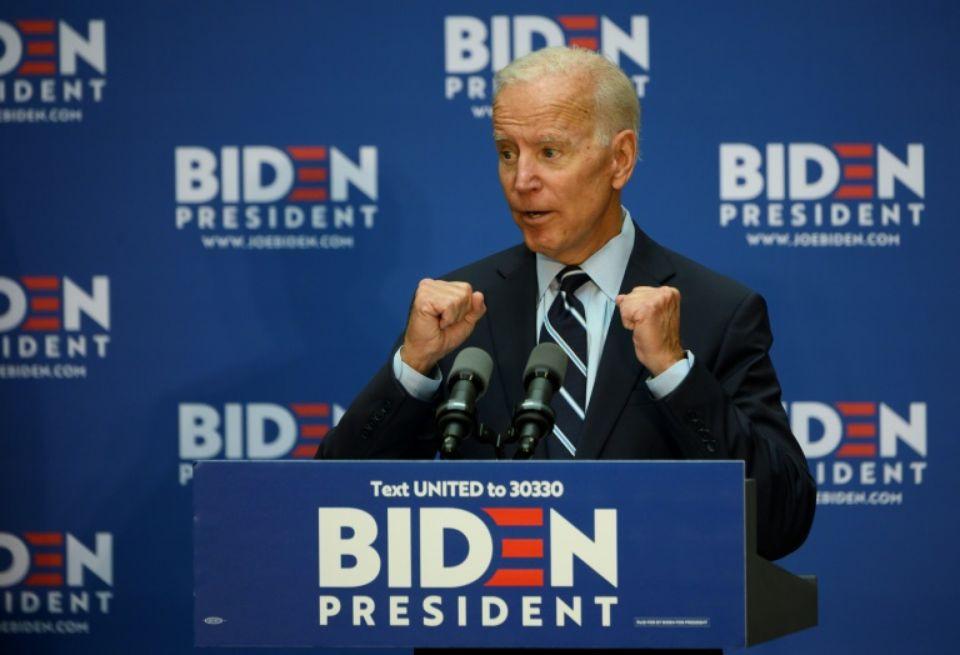 Joe Biden, candidat à l'investiture démocrate pour la présidentielle américaine de 2020, le 11 juillet 2019 à New York afp.com - Johannes EISELE