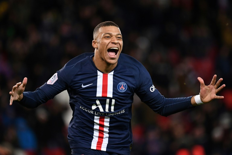Paris Saint-Germain forward Kylian Mbappe.