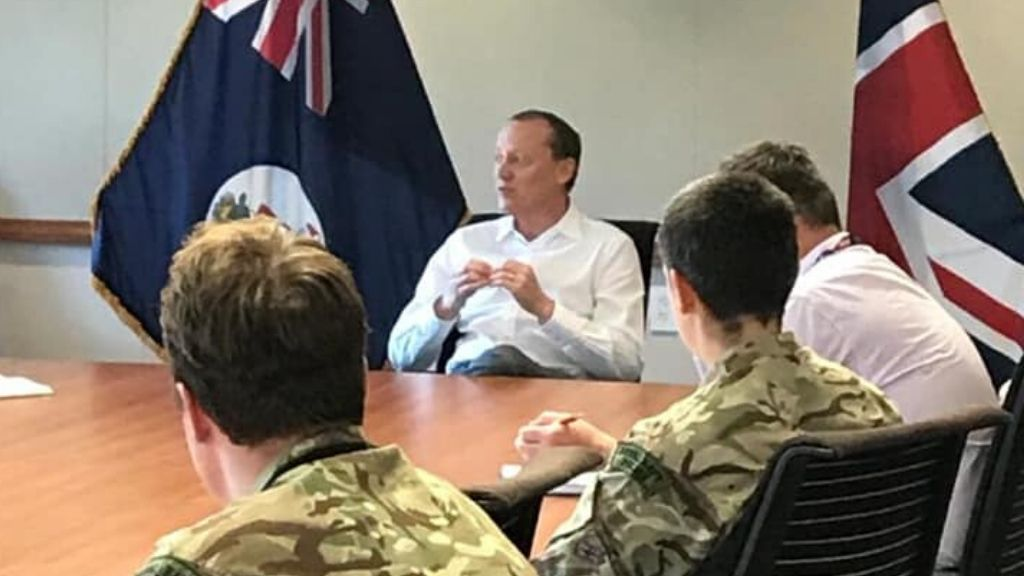 The governor met with all the members of the UK MOD Security and Assistance Team on May 28