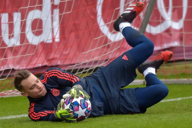 Le gardien du Bayern Munich, Manuel Neuer, à l'entraînement, à Munich, le 24 février 2020