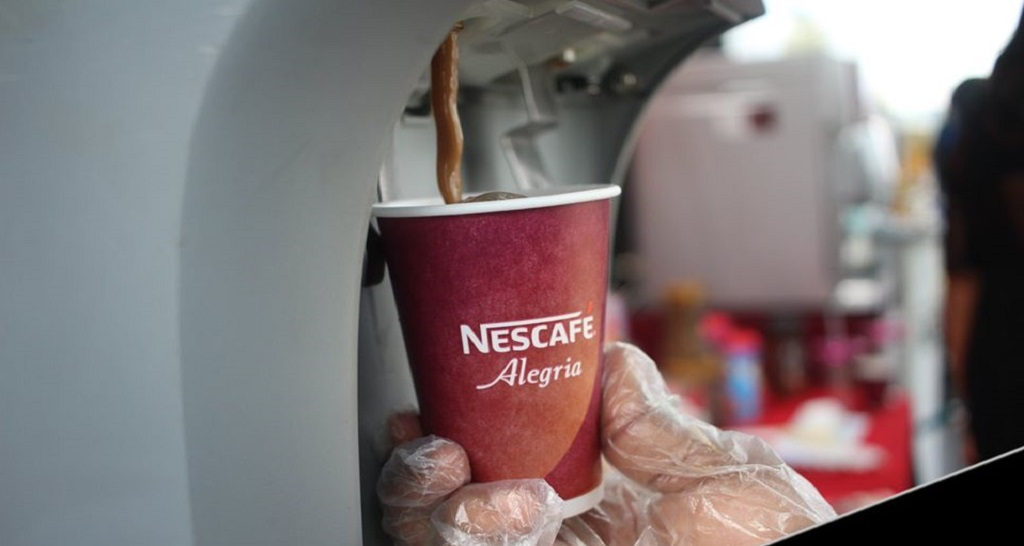 Nescafé's warm beverage selections will include several flavours namely black coffee, chocolate, french vanilla, mocha and latte served from Nescafé Alegria machines with the mere touch of a button.
