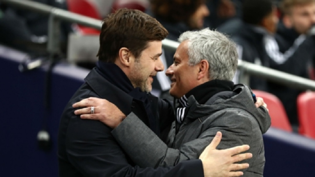 Mauricio Pochettino (left) and Jose Mourinho.