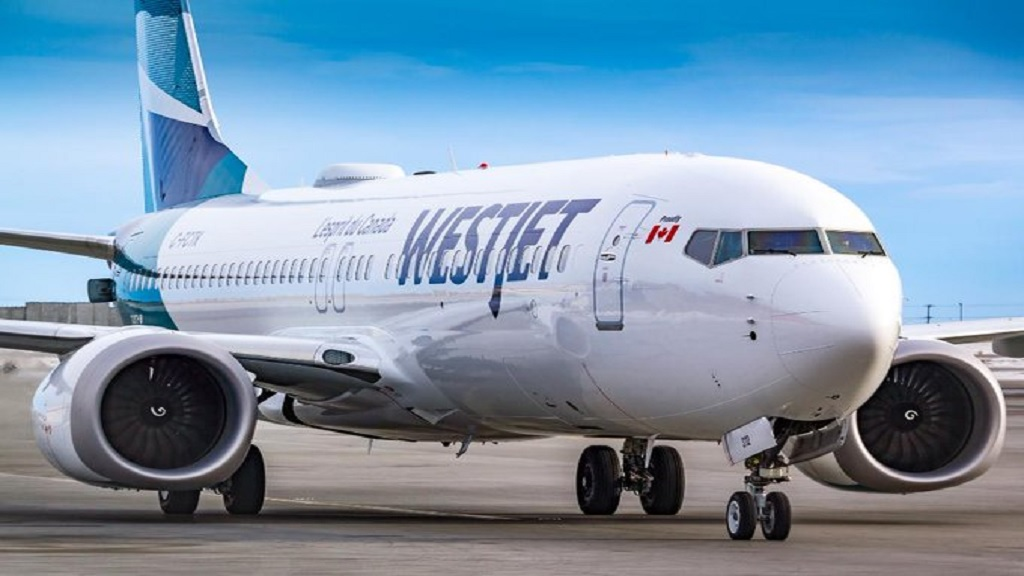 AP photo of a WestJet aircraft.