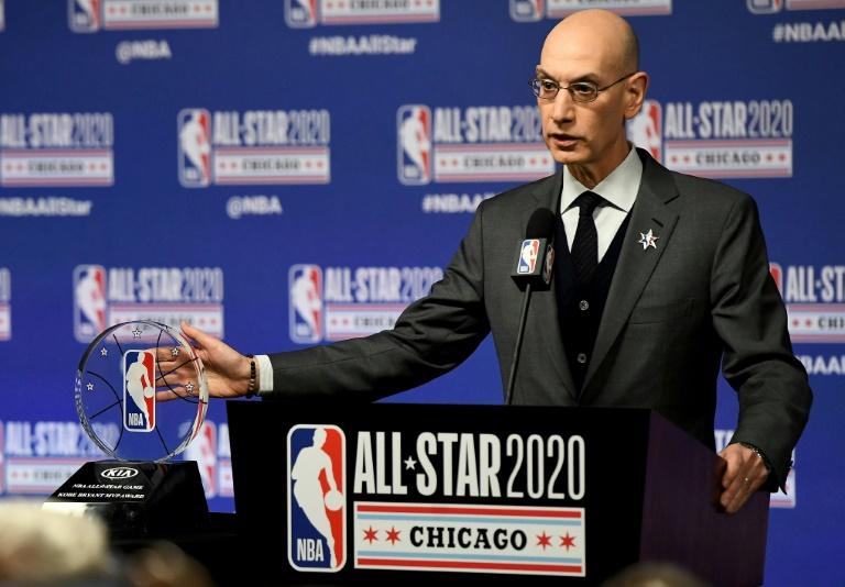 Le patron de la NBA, Adam Silver, le 15 février 2020 à Chicago