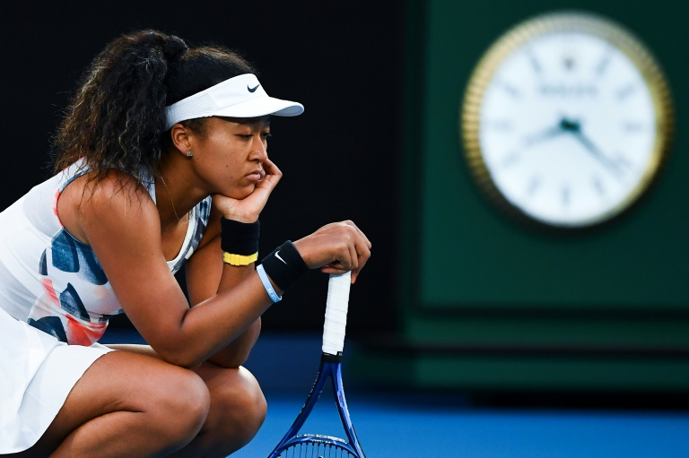La Japonaise Naomi Osaka pendant un match de l'Open d'Australie contre l'Américaine Coco Gauff le 24 janvier 2020 à Melbourne William WEST AFP/Archives