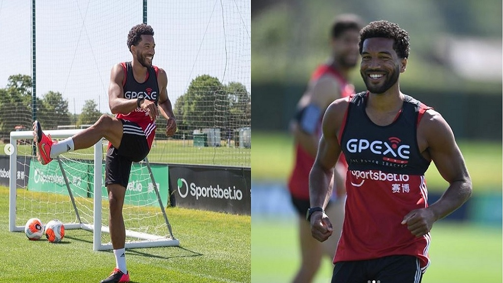 Jamaica international Adrian Mariappa is back in training at Watford FC.