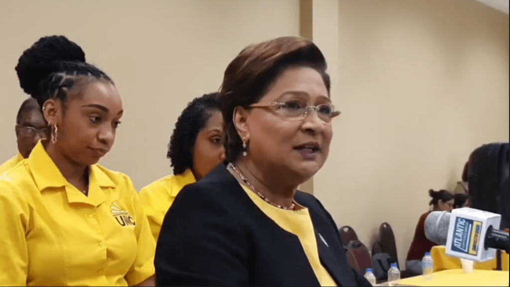 Opposition Leader, Kamla Persad-Bissessar