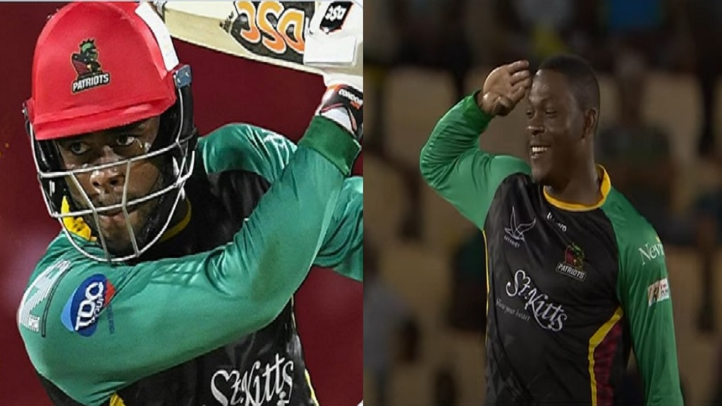 Batting all-rounder Fabian Allen (left) and  fast bowler Sheldon Cottrell.