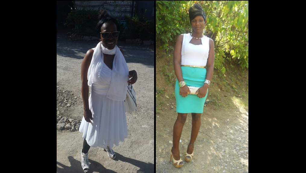 Photo combination showing  Nicole O'Haro and her mother,  Hyacinth Hyatt.