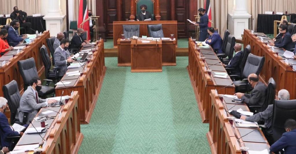 Parliamentary sitting on May 15, 2020. Photo courtesy Trinidad and Tobago Parliament.