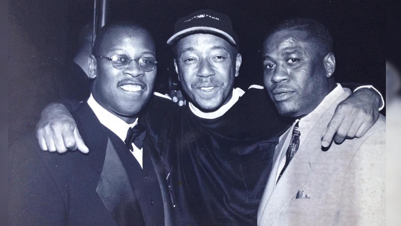 "Music Executives Andre Harrell, Russell Simmons and Andrew ""Sugar Dice"" Ramdhanny"