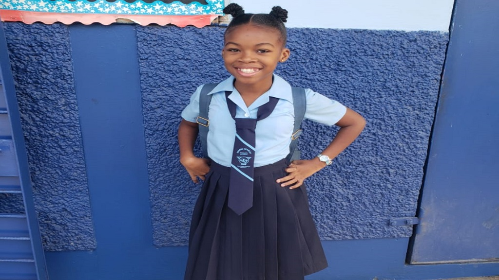 Eleven-year-old Cerease McCormack, a student at the George Headley Primary School in Kingston, is continuing her daily regime of studying remotely to ensure that she is ready for life in high school.