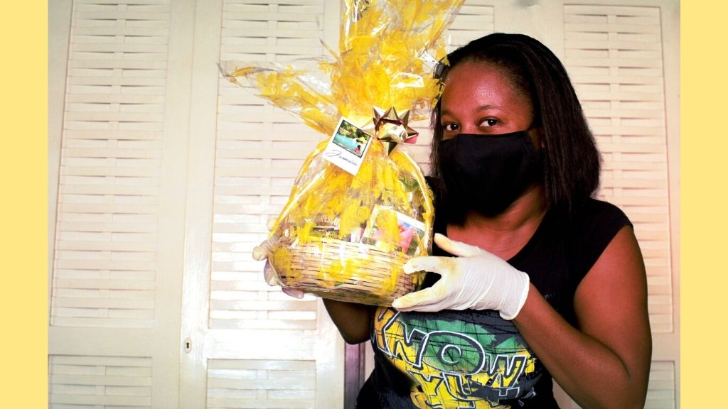 Lifestyle blogger Jhunelle Jureidini with her quarantine kit,created from items found in her pantry. (Photos: Contributed)