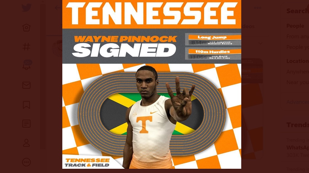 University of Tennessee welcomes Wayne Pinnock.