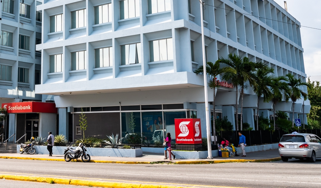 iStock photo of Scotiabank on Knutsford Boulevard, New Kingston. The bank on Thursday  announced a temporary closure of that location after a COVID-19 patient visited.