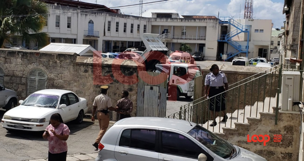 District A Magistrate's Courtyard in Bridgetown (FILE)