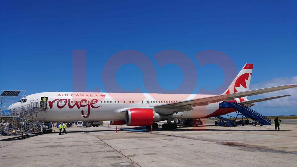 Air Canada Rouge in Barbados at the Grantley Adams International Airport (FILE)