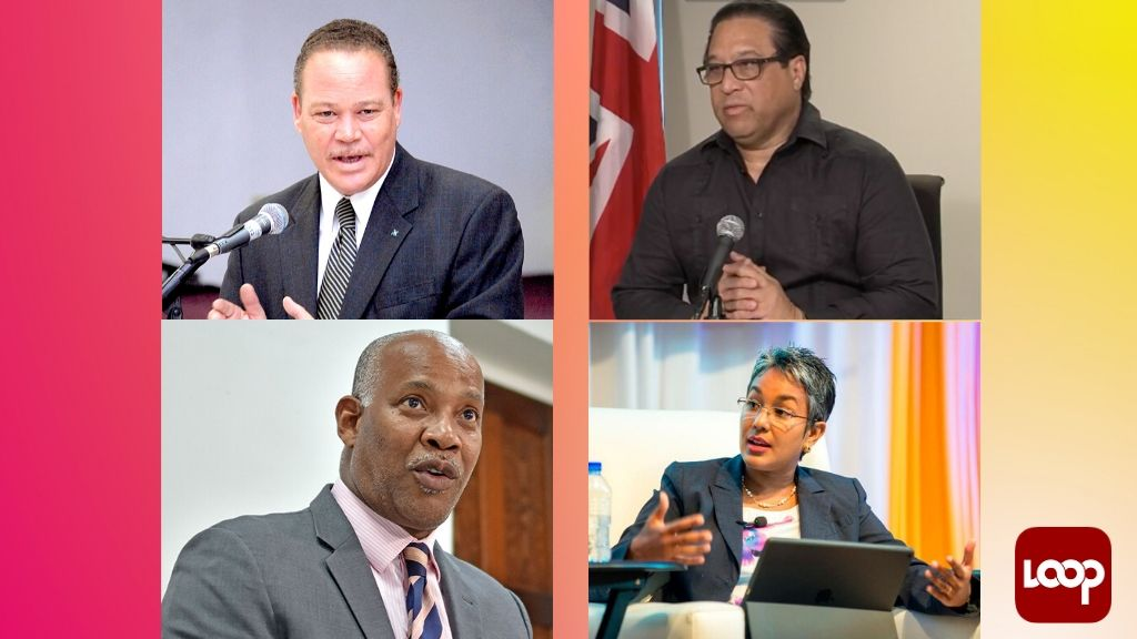 L-R, top row: Bahamas' Attorney General and Minister of Legal Affairs, Carl W Bethel, Cayman Islands' Premier, Alden McLaughlin;