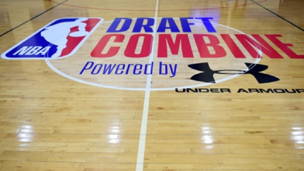 The court for the NBA Draft Combine.