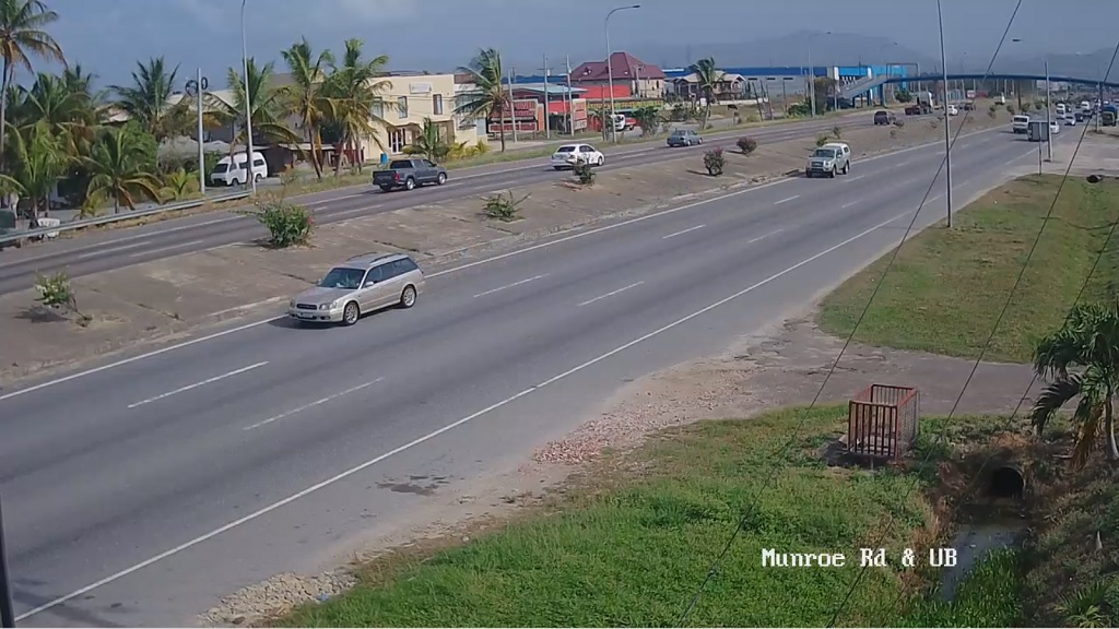 Photo: Munroe Road and Uriah Butler Highway as of May 8, 2020. Screenshot via traffictt.com
