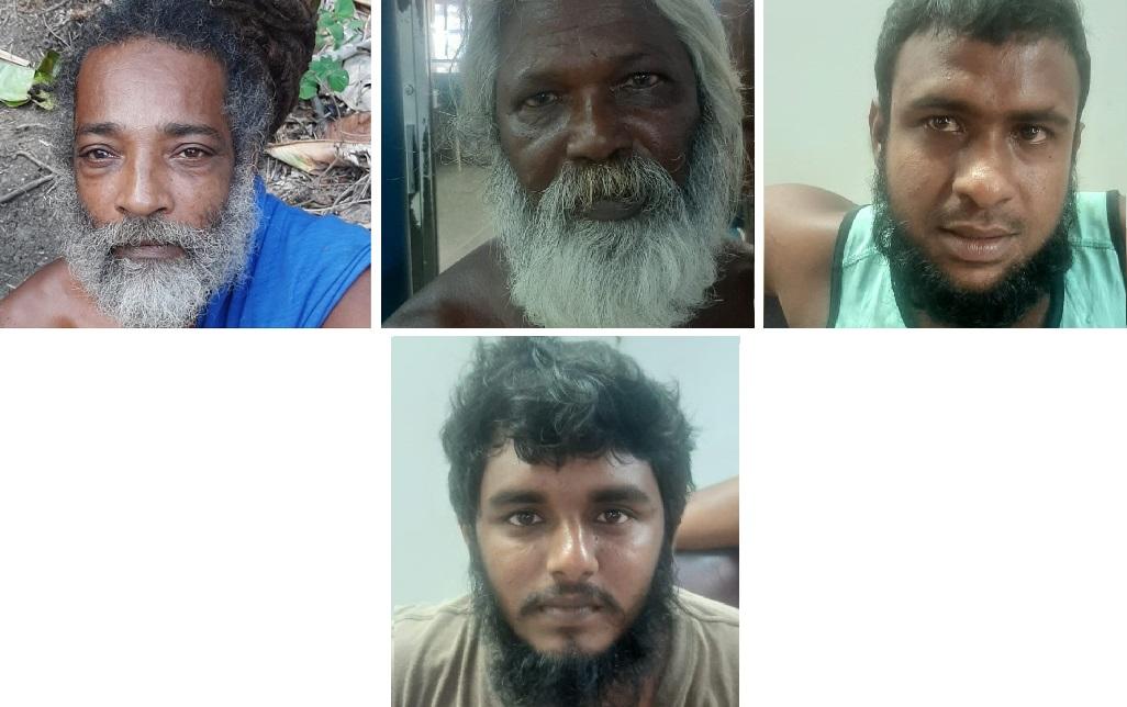From left to right: Michael Ali; Kishore Sampath; Danny Persad; Raffi Baksh