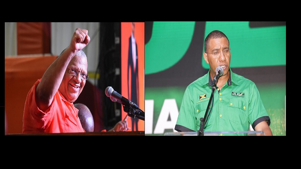 Opposition Leader, Dr Peter Phillips (left), and Prime Minister Andrew Holness.
