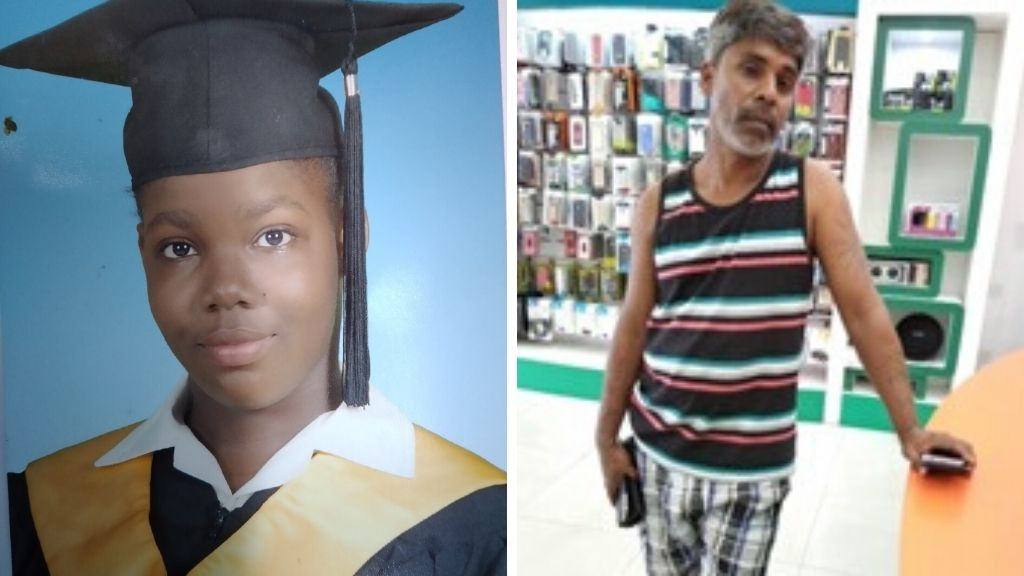 Pictured: At left, missing schoolgirl Kendra Cuffie; at right, missing Chase Village man, Barry Ramsook. Photos provided by Trinidad and Tobago Police Service (TTPS).