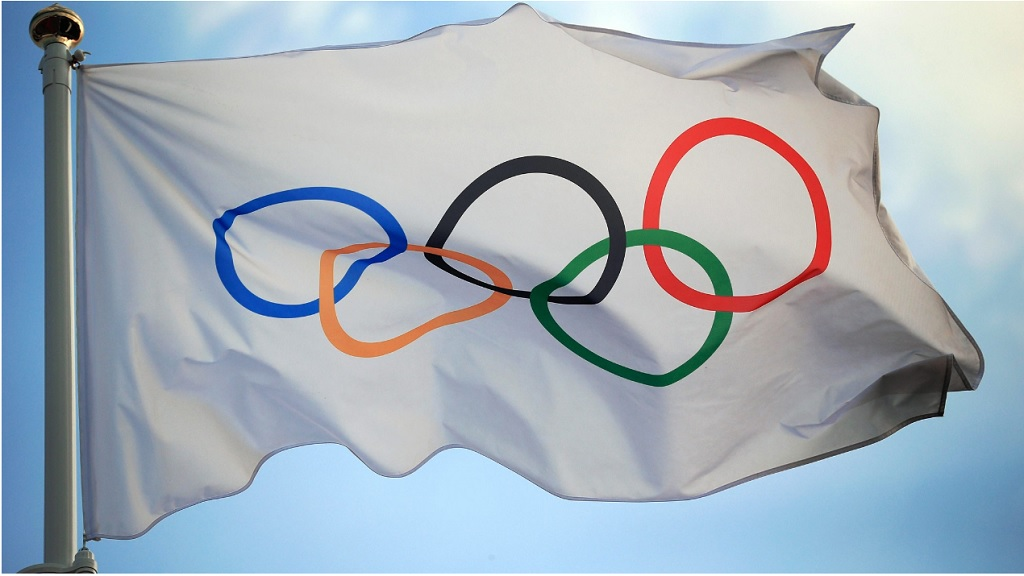 The International Olympic Committee (IOC) flag.