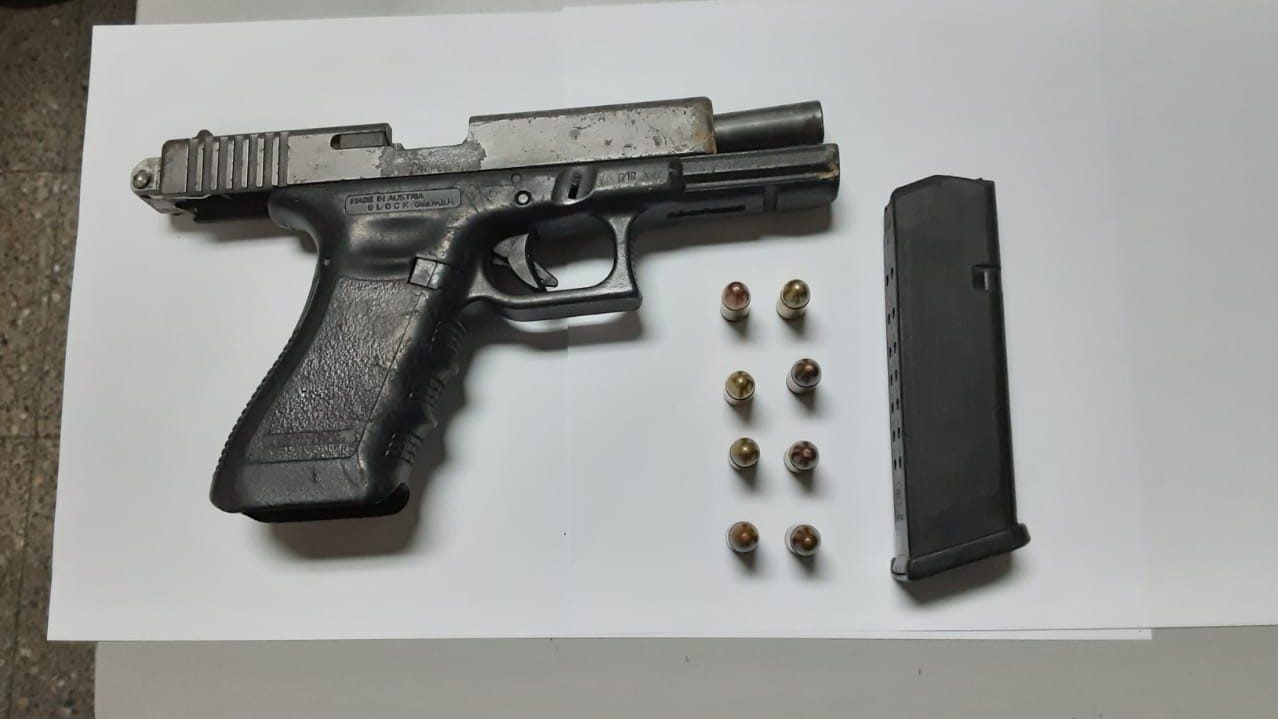 Found and seized: A Glock 17 pistol with eight rounds of 9mm ammunition