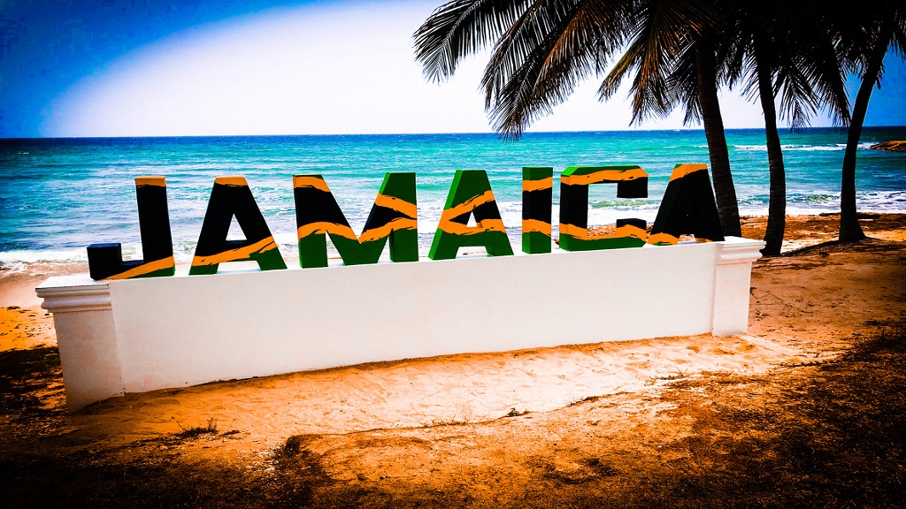 iStock photo of a colourful Jamaica palm tree beach and sunset.