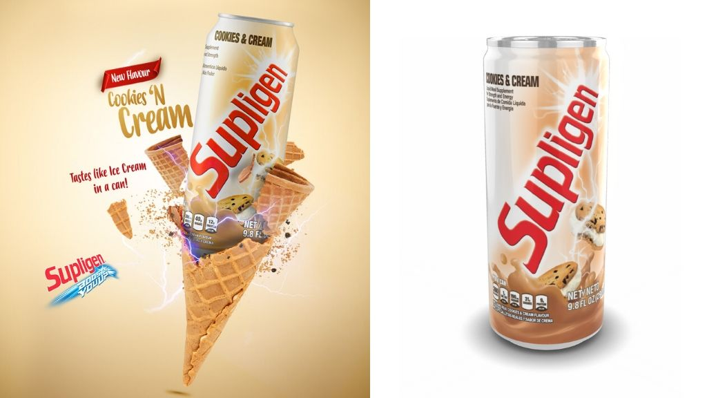 There's a new Supligen in town, the Cookies & Cream, that tastes like ice cream in a can. (Photos: Contributed)