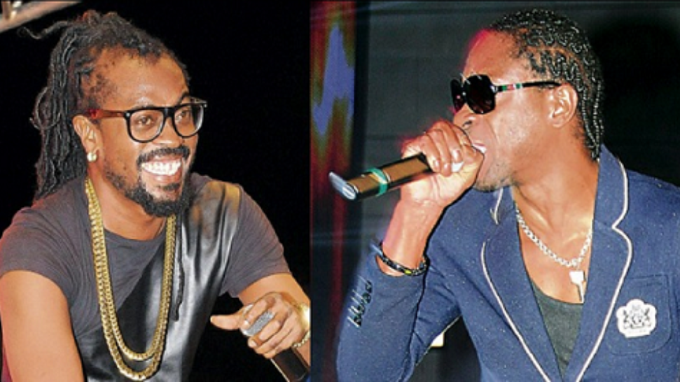 Bounty Killer (right) and Beenie Man