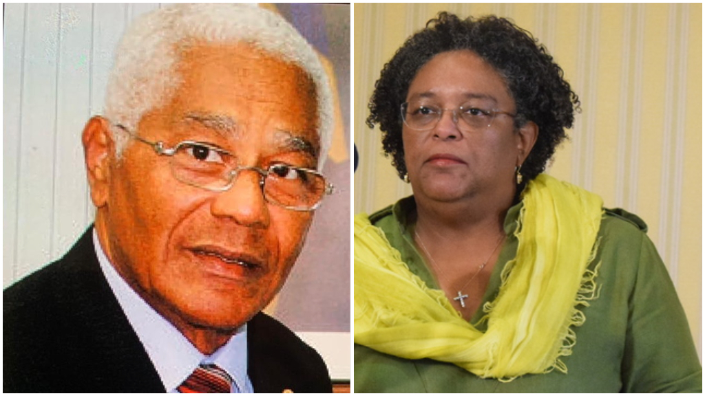 Sir Anthony Bryan and Prime Minister Mia Mottley