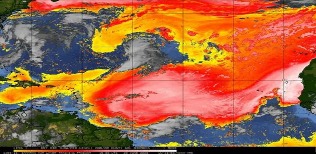 Image provided by the Trinidad and Tobago Meteorological Service (TTMS)
