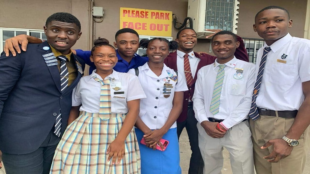 Some members of the Kingston and St Andrew Municipal Corporation (KSAMC) Junior Council.