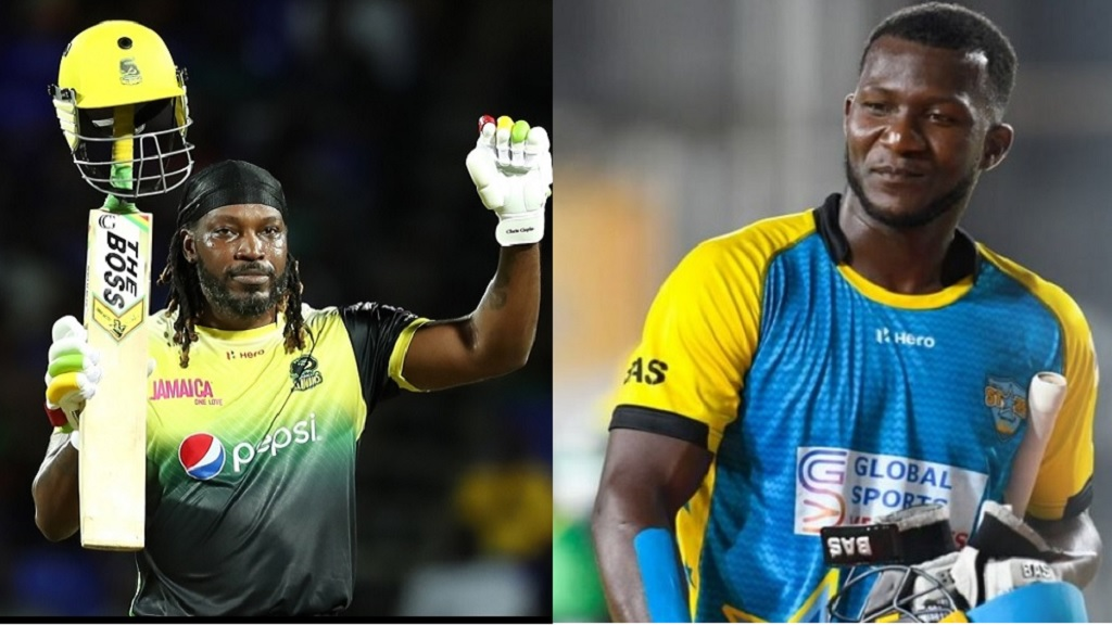 Chris Gayle (left) and Darren Sammy.